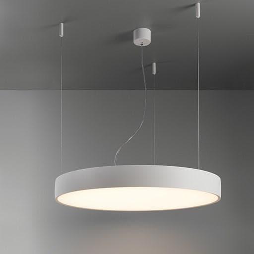 Modular Lighting Flat Moon 950 Suspension Up/Down LED Dali/pushdim GI MO 13308309 White structured