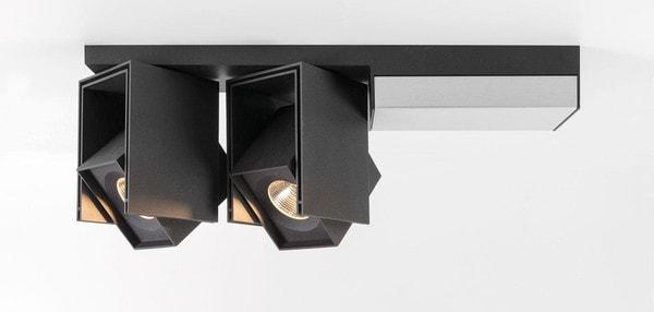 Modular Lighting Rektor 2x LED Warm Dim Tre Dim GI MO 14249062 Black structured / Brushed aluminium
