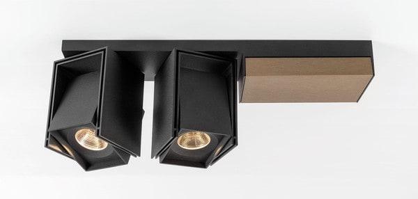 Modular Lighting Rektor 2x LED Warm Dim Tre Dim GI MO 14249067 Black structured / Smoked bronze